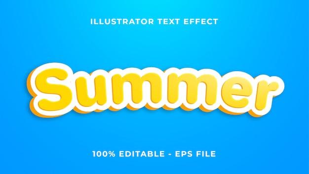 Летний текстовый эффект