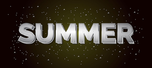 夏のテキスト効果