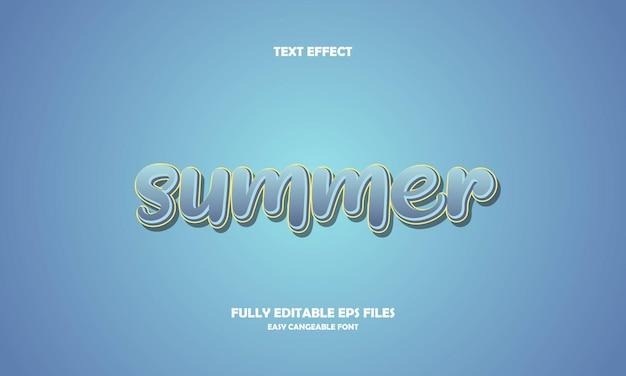 Summer text effect