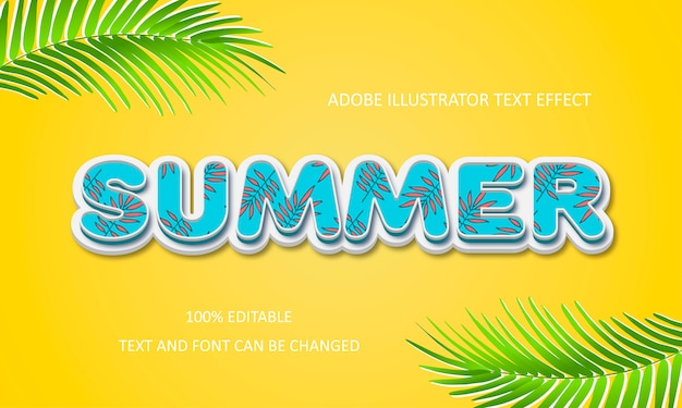 Summer text effect.