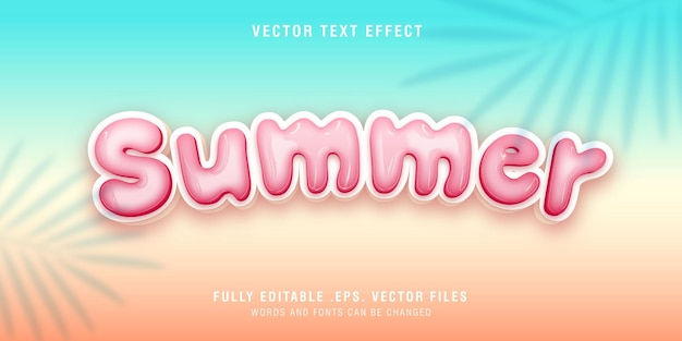 Summer text style effect fully editable