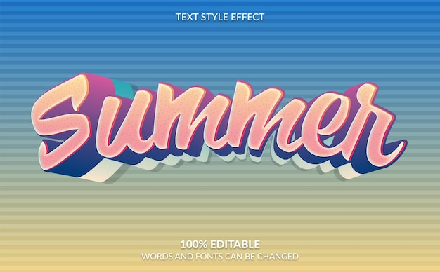Summer text style effect