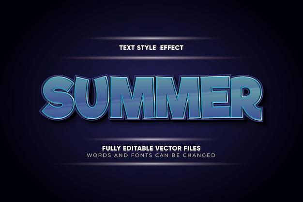 Эффект стиля летнего текста