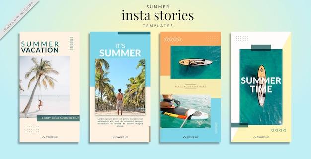 夏のテーマのinstagramストーリーテンプレート