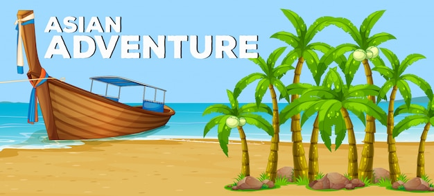 Summer theme with asian adventure