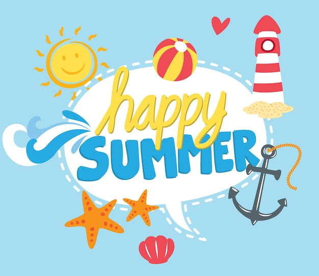 Summer themed graphic element