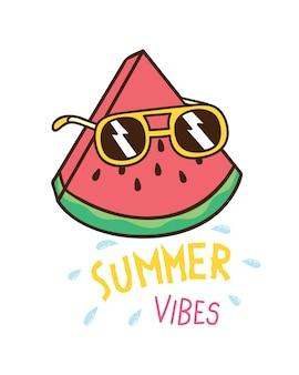 夏のテーマのtシャツデザイン