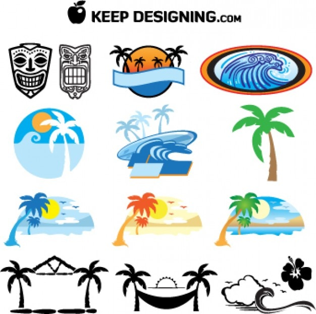 Summer_tiki_mask_beach_island_vectors