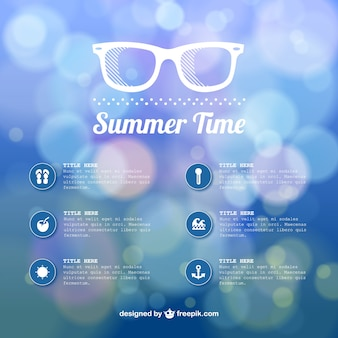 Summer time abstract bokeh template