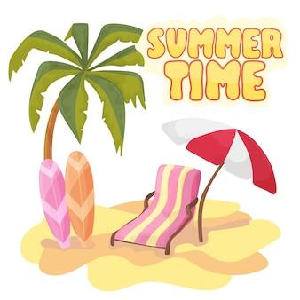여름 시간 배경 배너 디자인 서식 파일 및 기호 시즌 요소 해변