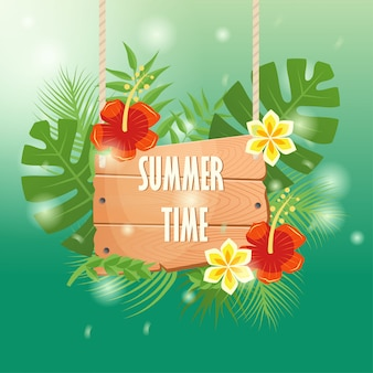 Summer time background design
