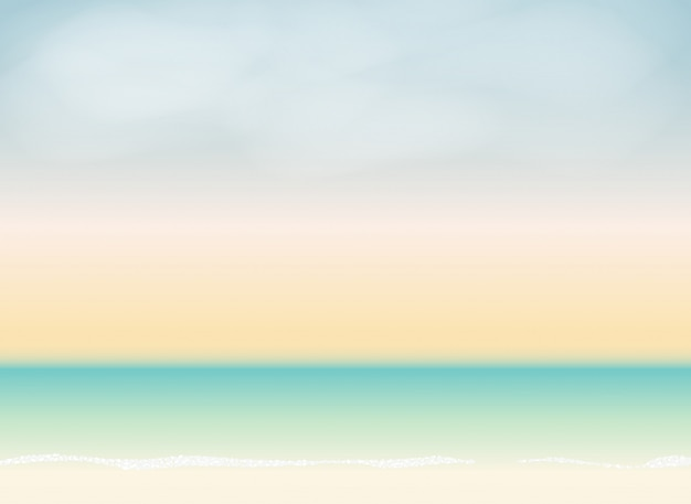 Summer time background. sunny beach vector illustration