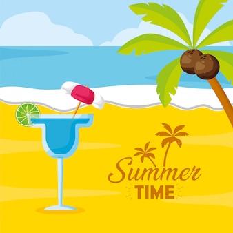 Летний пляжный коктейль