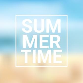 Summer time blurred sea bokeh beach