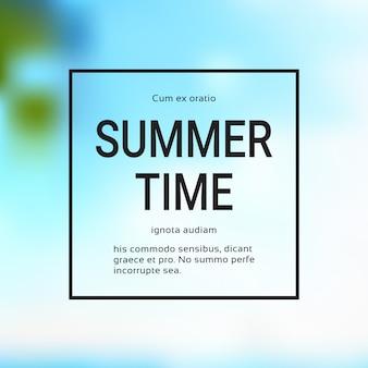 Summer time blurred sea bokeh frame design