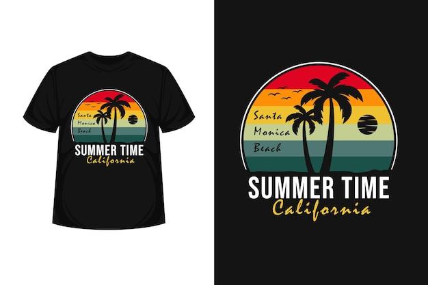 Summer time california merchendise silhouette  t-shirt design