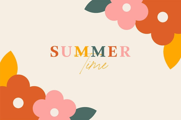 Летняя цветочная рамка фон и обои