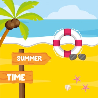 Summer time holiday beach