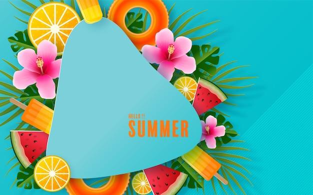 夏休みのデザイン Premiumベクター