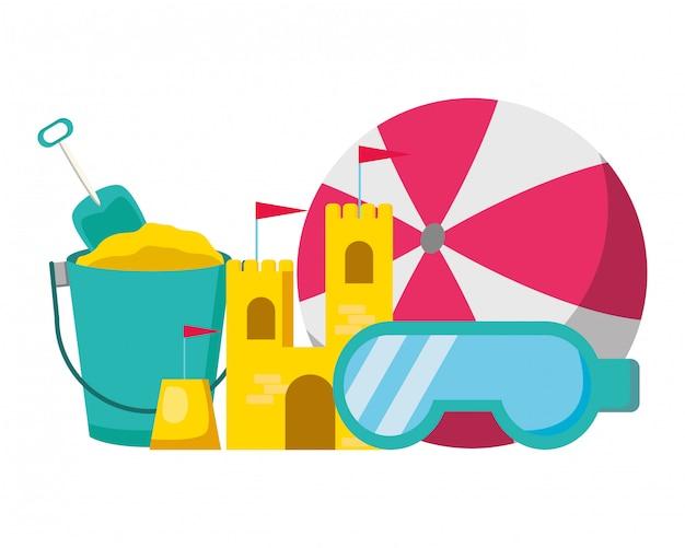 Summer time holiday illustration