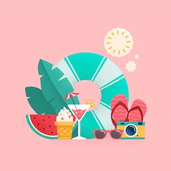 여름 시간 그림
