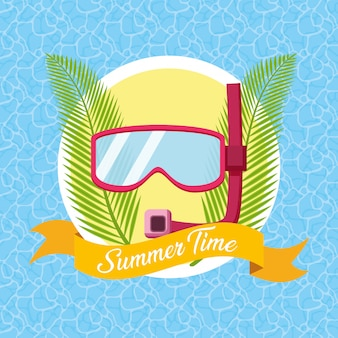 Summer time illustration