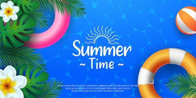 Summer time layout design illustrations