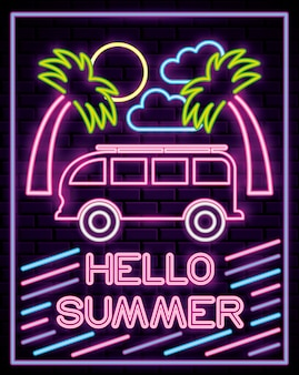 Summer time neon lights