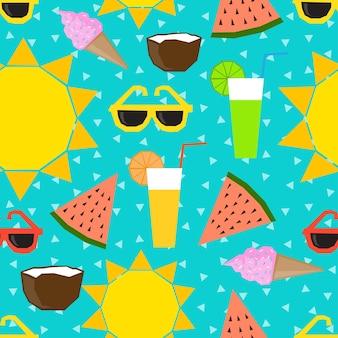 여름 시간 원활한 패턴 배경
