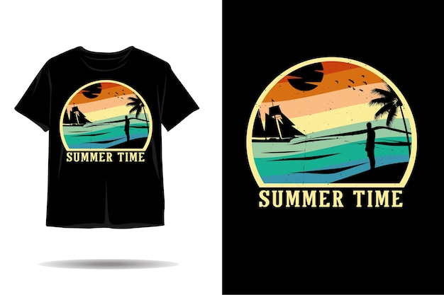 Summer time silhouette tshirt design