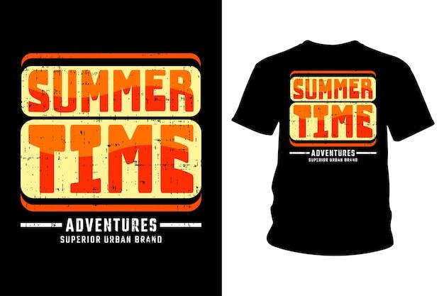 Летнее время дизайн типографии футболки
