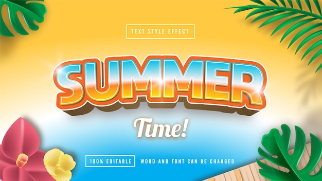 Summer time text effect editable  free download