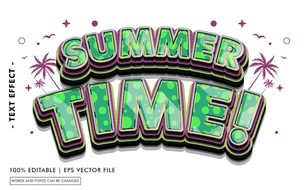 Summer time! text effect style