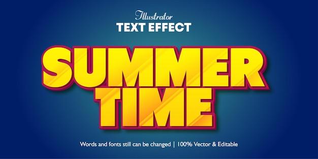 Текстовый эффект летнего времени