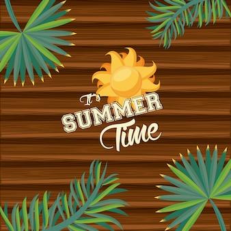 Летнее время тропическая иллюстрация