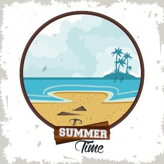Summer time tropical illustration