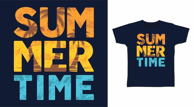 Summer time tshirt design
