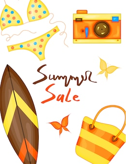Summer time vector banner