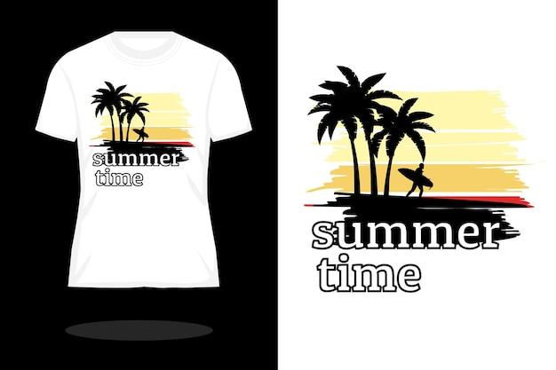 여름 시간 빈티지 t 셔츠 디자인