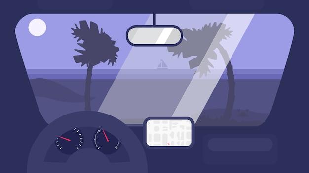 Summer travel in car