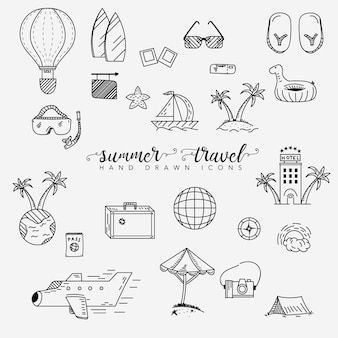 Summer and travel elements collection