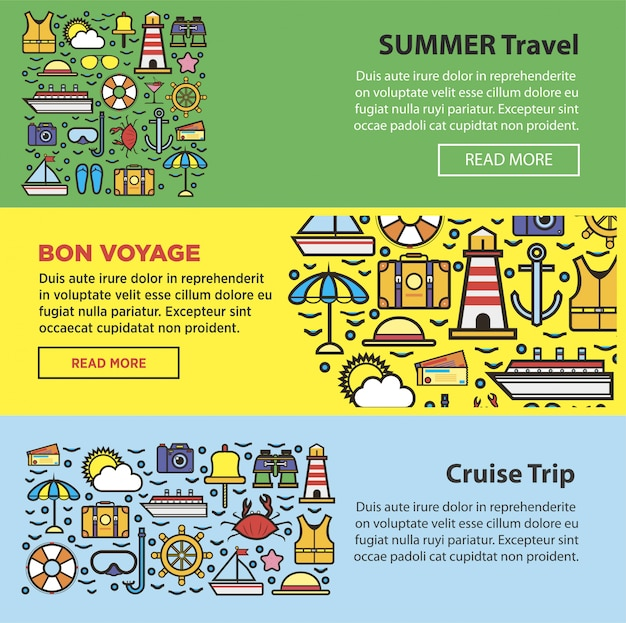 Summer travel and sea cruise vacation