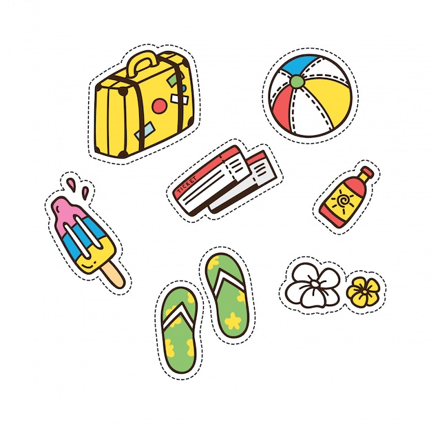 Summer and travel themed cute patch