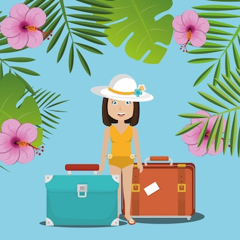 Summer, travel and vacation