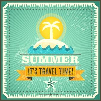 여름 여행 벡터
