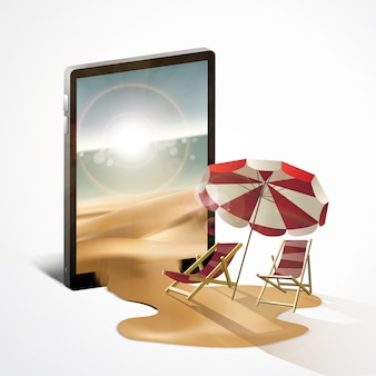 Summer traveling with mobile phone