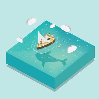 海の夏の旅 Premiumベクター