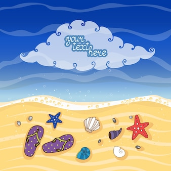 Летний тропический пляж вектор
