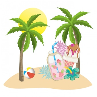 Summer and tropical drinks