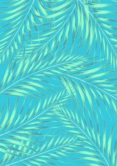 Summer tropical palm leaves with pastel color. summertime background concept